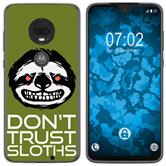 Motorola Moto G7 Plus Silicone Case Crazy Animals sloth M3