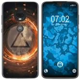 Motorola Moto G7 Silicone Case Element fire M3