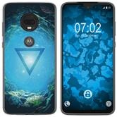 Motorola Moto G7 Silicone Case Element water M4