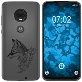 Motorola Moto G7 Silicone Case floral Fox M1-1