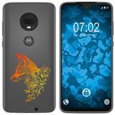 Motorola Moto G7 Silicone Case floral Fox M1-2