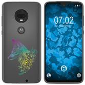 Motorola Moto G7 Silicone Case floral Fox M1-4