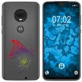 Motorola Moto G7 Silicone Case floral Fox M1-5