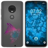Motorola Moto G7 Silicone Case floral Fox M1-6
