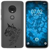 Motorola Moto G7 Silicone Case floral M2-1