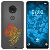 Motorola Moto G7 Silicone Case floral M2-2