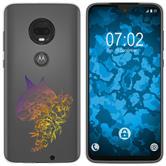 Motorola Moto G7 Silicone Case floral M2-3