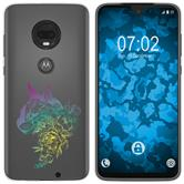 Motorola Moto G7 Silicone Case floral M2-4