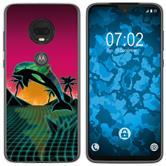 Motorola Moto G7 Plus Silicone Case Retro Wave M1