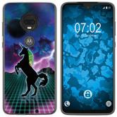 Motorola Moto G7 Plus Silicone Case Retro Wave M2