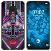 Motorola Moto G7 Silicone Case Retro Wave M5