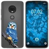 Motorola Moto G7 Plus Silicone Case vector animals M1