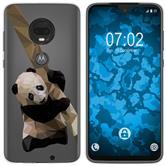 Motorola Moto G7 Plus Silicone Case vector animals Panda M4