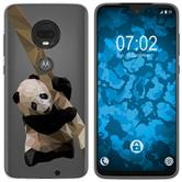 Motorola Moto G7 Silicone Case vector animals Panda M4
