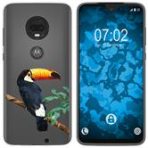 Motorola Moto G7 Plus Silicone Case vector animals M5
