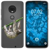 Motorola Moto G7 Silicone Case vector animals sloth M6