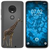 Motorola Moto G7 Plus Silicone Case vector animals M8