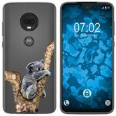 Motorola Moto G7 Plus Coque en Silicone animaux vecteur M9