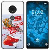 Motorola Moto G7 Plus Silicone Case Christmas X Mas M8