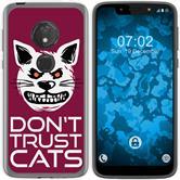 Motorola Moto G7 Play Silicone Case Crazy Animals M1