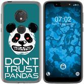 Motorola Moto G7 Play Silicone Case Crazy Animals Panda M2