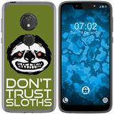 Motorola Moto G7 Play Silicone Case Crazy Animals sloth M3
