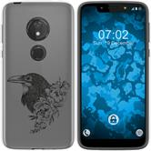 Motorola Moto G7 Play Silicone Case floral M4-1