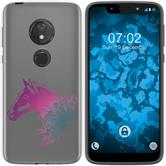 Motorola Moto G7 Play Silicone Case floral M5-6