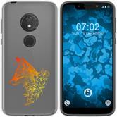 Motorola Moto G7 Play Silicone Case floral Fox M1-2