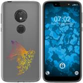 Motorola Moto G7 Play Silicone Case floral Fox M1-3