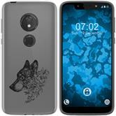 Motorola Moto G7 Play Silicone Case floral M3-1