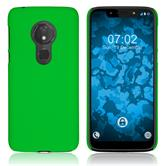 Hardcase Moto G7 Play rubberized green Cover