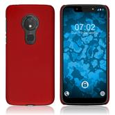 Hardcase Moto G7 Play rubberized red Cover