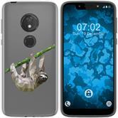 Motorola Moto G7 Play Silicone Case vector animals sloth M6