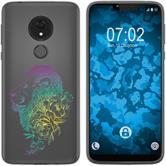 Motorola Moto G7 Power Silikon-Hülle Floral  M6-4