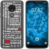 Motorola Moto G7 Power Silikon-Hülle in Love  M5
