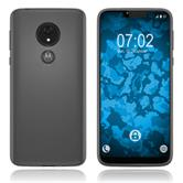 Silicone Case Moto G7 Power transparent Crystal Clear + protective foils