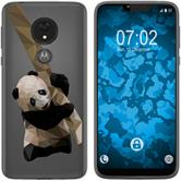 Motorola Moto G7 Power Silicone Case vector animals Panda M4