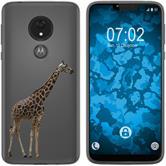 Motorola Moto G7 Power Silicone Case vector animals M8