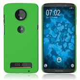 Hardcase Moto Z3 Play rubberized green Case