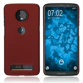 Hardcase Moto Z3 Play rubberized red Case