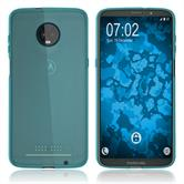 Silicone Case Moto Z3 Play transparent turquoise Case