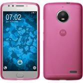 Silicone Case Moto E4 (EU Version) matt hot pink + protective foils