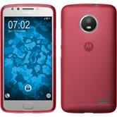 Silicone Case Moto E4 (EU Version) matt red + protective foils