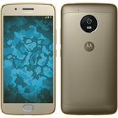 Silicone Case Moto G5 360° Fullbody gold
