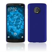 Hardcase Moto G6 Plus rubberized blue Case