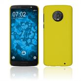 Hardcase Moto G6 Plus rubberized yellow Case