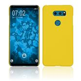Hardcase V30S ThinQ rubberized yellow Case