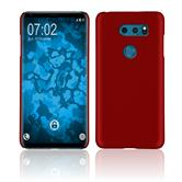 Hardcase V30S ThinQ rubberized red Case