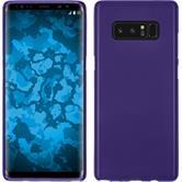 Silicone Case Galaxy Note 8 matt purple + Flexible protective film
